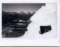 It might be a challenge to toss garbage into this one, Instax 100, monochrome film